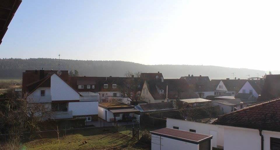 Blick vom Balkon unserer Ferienwohnung in Zirndorf